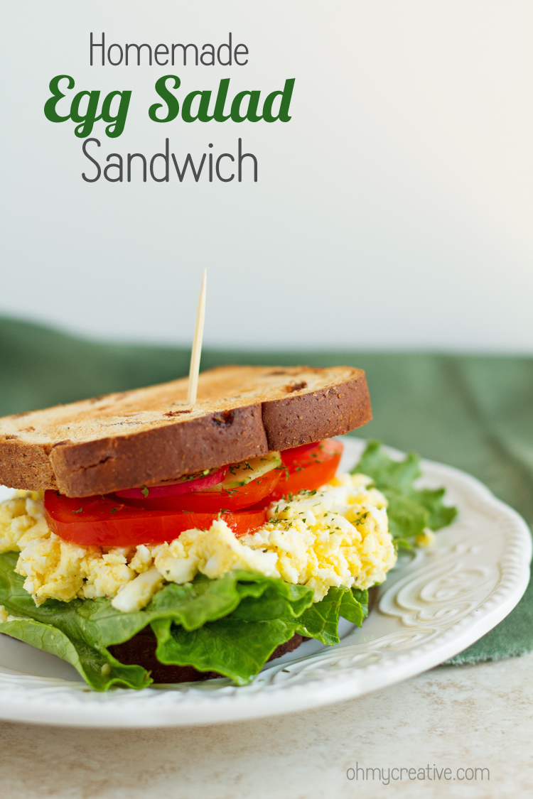 homemade egg salad sandwich recipe