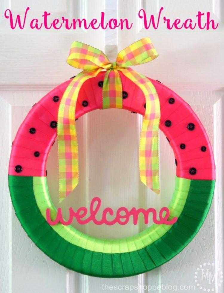 watermelon front door wreath