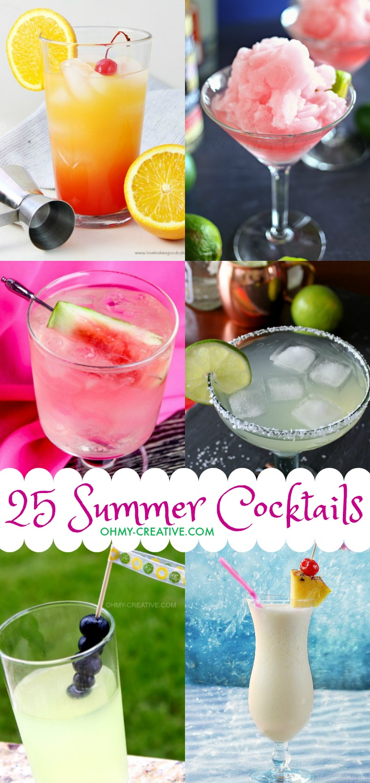 25 Fun Summer Cocktails - Oh My Creative
