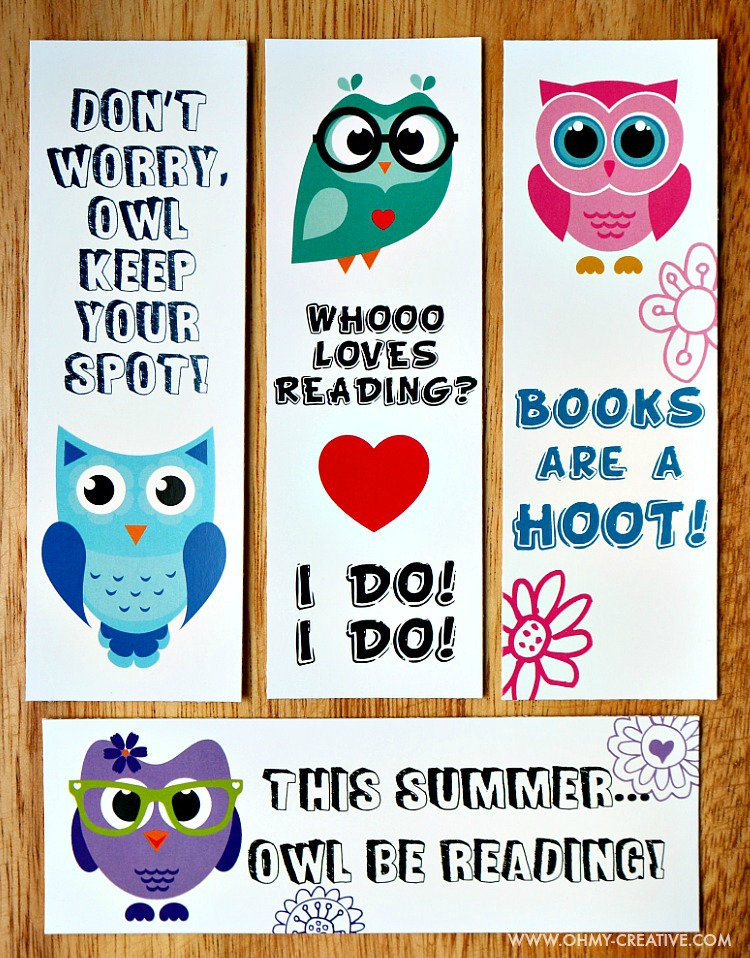 graphic regarding Free Printable Bookmarks called Printable Bookmark Coloring Web pages for Young children - Oh My Artistic