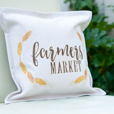 Easy DIY Farmhouse Fall Decor Pillow
