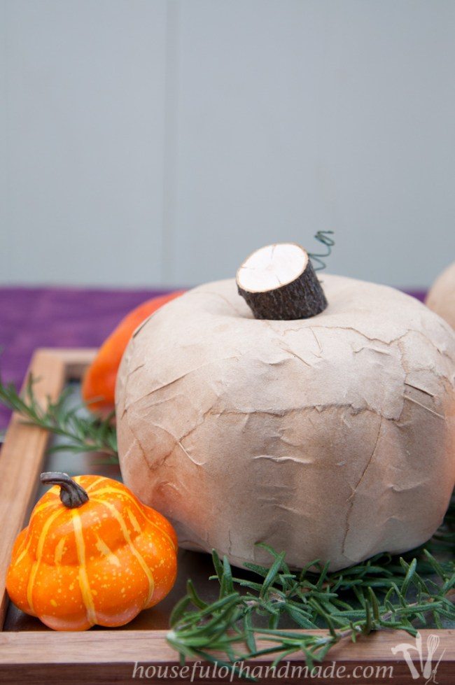 Easy Rustic Pumpkins from Dollar Store Pumpkins