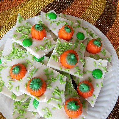Pumpkin Patch Candy Bark Recipe