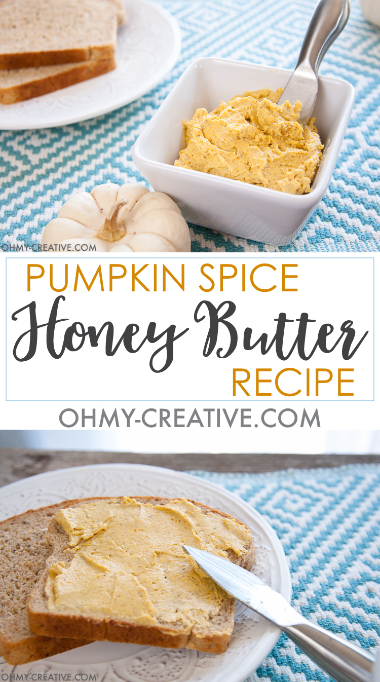 Pumpkin Spice Honey Butter Recipe   Honey and Butter   Honey Butter   Honey Butter Spread   Pumpkin Butter Spread    OHMY-CREATIVE.COM