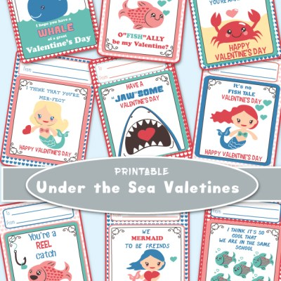 Valentine Under The Sea Printables