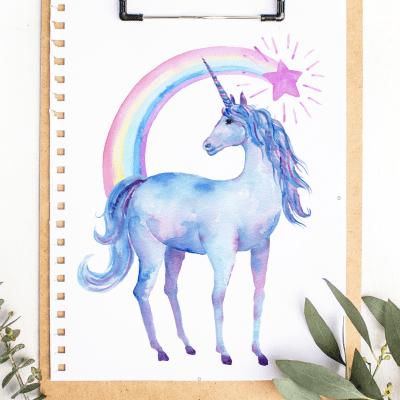 Free Printable Watercolor Unicorn Pictures