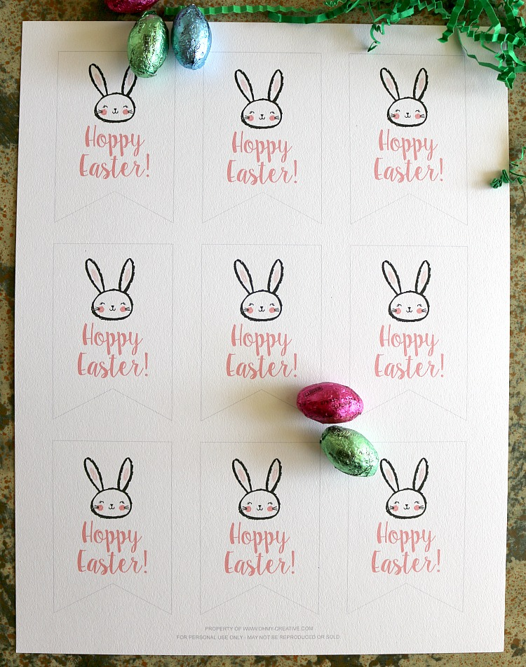 Free printable hoppy easter gift tags oh my creative free printable hoppy easter gift tags ohmy creative easter printable negle