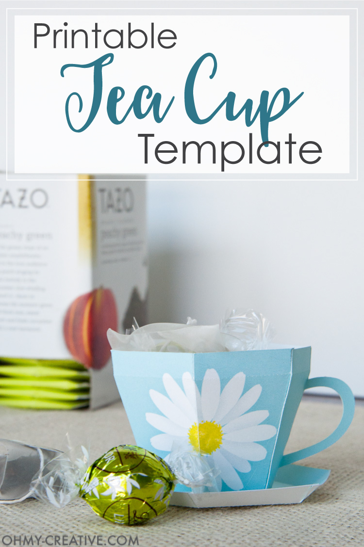 image relating to Teacup Printable identified as Tea Cup Template Printable Tea Cup Reward - Oh My Inventive