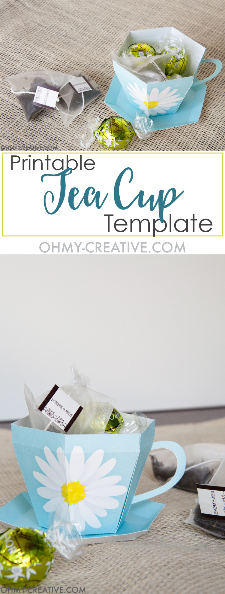 Tea Cup Template Printable | Tea Cup Gift - Oh My Creative