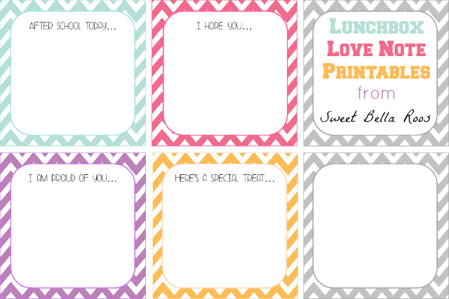 10 free printable lunch box notes ohmy creativecom school lunch printable