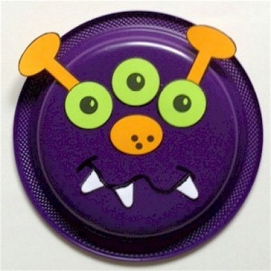 Monster Paper Plate Craft | 20 PAPER PLATE CRAFTS FOR KIDS | OHMY-CREATIVE.COM | kids crafts | paper plates | preschool crafts | kindergarten crafts | school kids crafts | Under the sea crafts | paper plate animal crafts | rainbow craft | olympics craft | watermelon craft | monster craft | paper craft