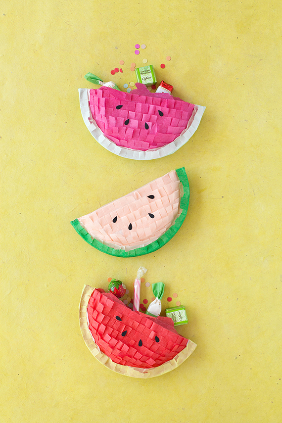 Watermelon tissue paper and paper plate craft favors | 20 PAPER PLATE CRAFTS FOR KIDS | OHMY-CREATIVE.COM | kids crafts | paper plates | preschool crafts | kindergarten crafts | school kids crafts | Under the sea crafts | paper plate animal crafts | rainbow craft | olympics craft | watermelon craft | monster craft | paper craft