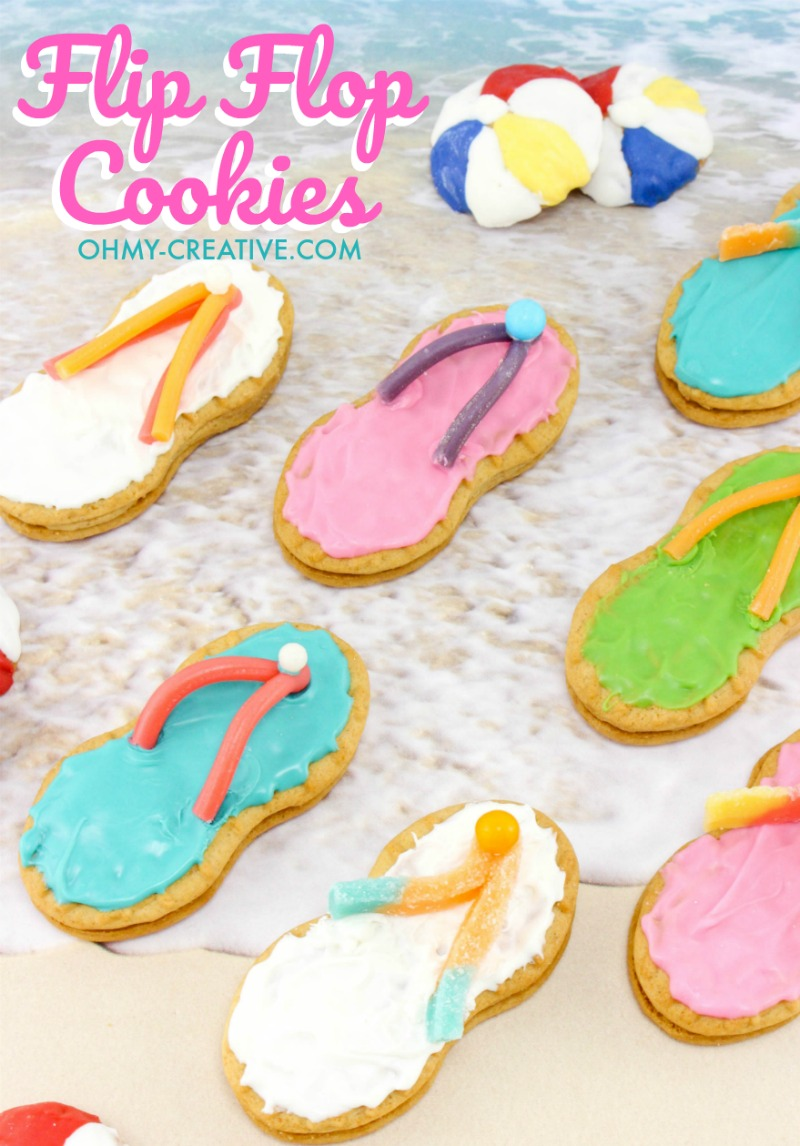 How To Make Nutter Butter Flip Flop Cookies