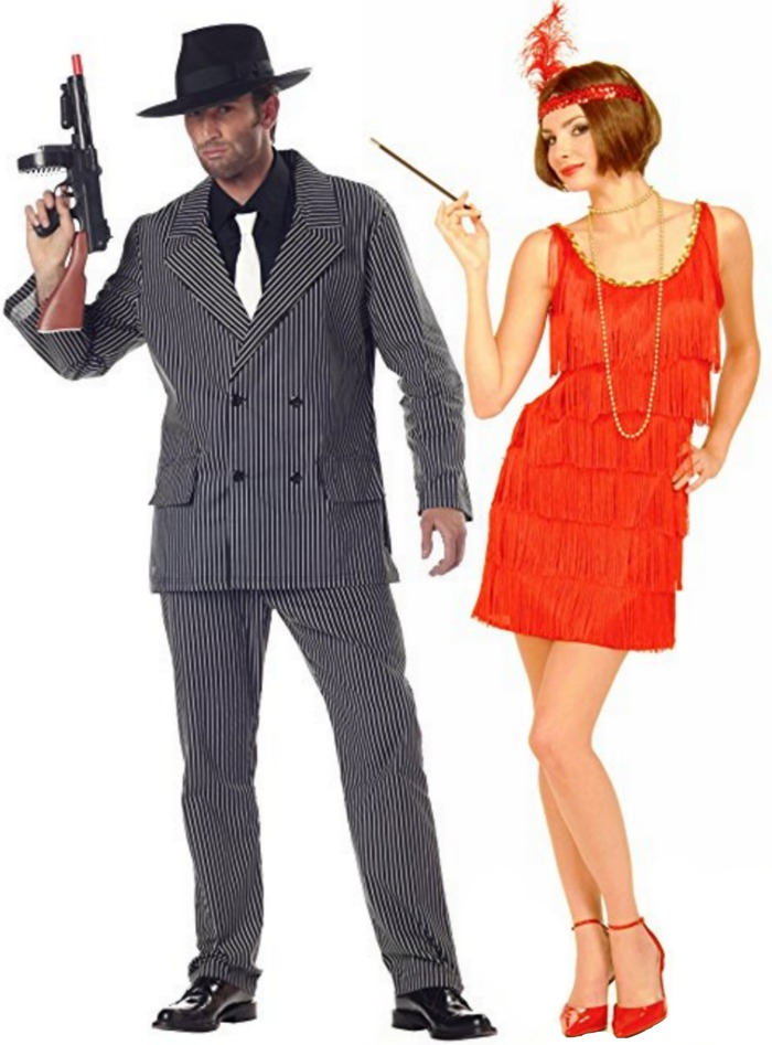 Gangster roaring 20's couples costumes | 50 Couples Halloween Costume Ideas