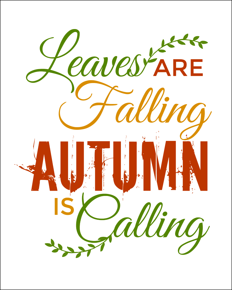 Fall Quote Free Printables Perfect For Fall Decorating! OHMY CREATIVE.COM |  Pumpkin