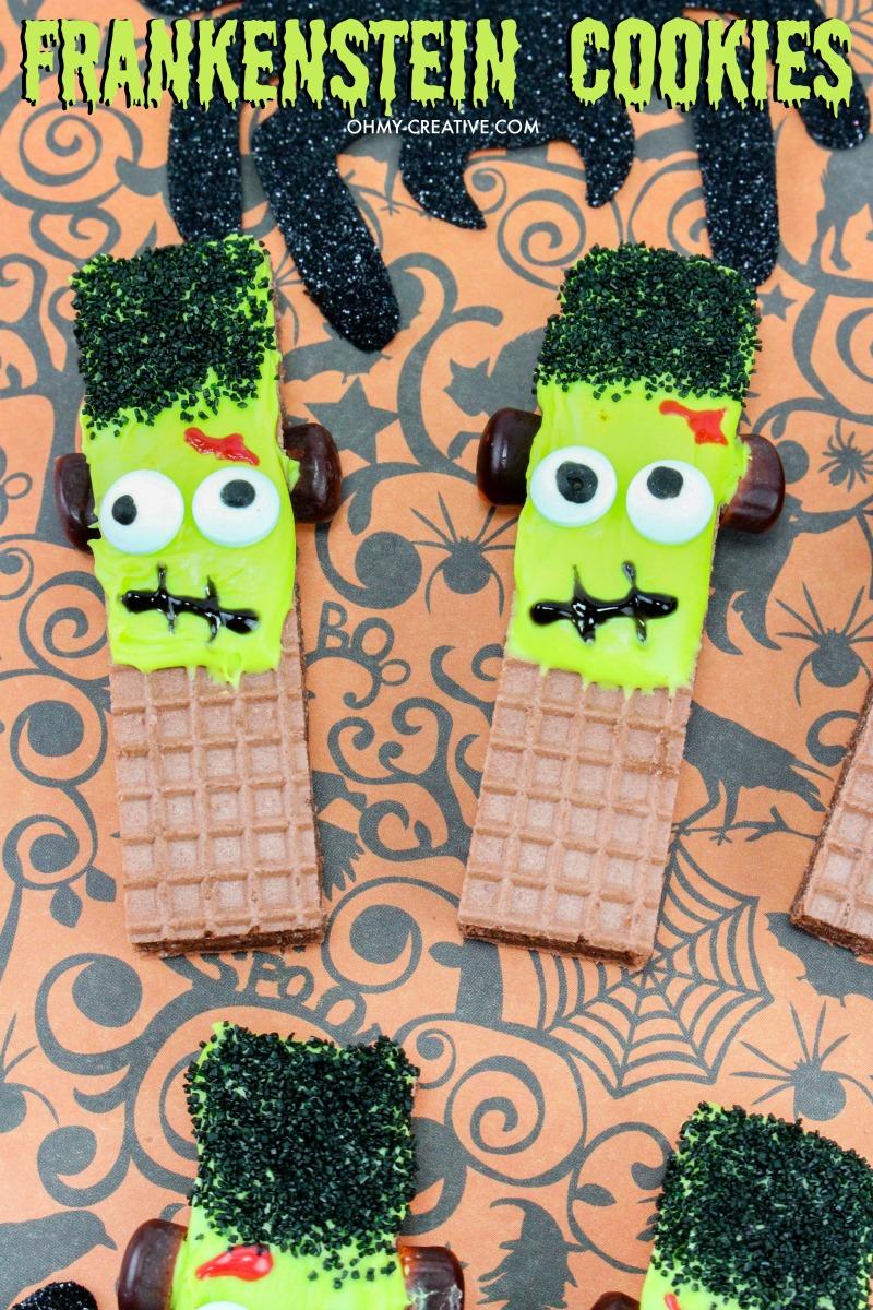 Frankenstein Cookies For Halloween