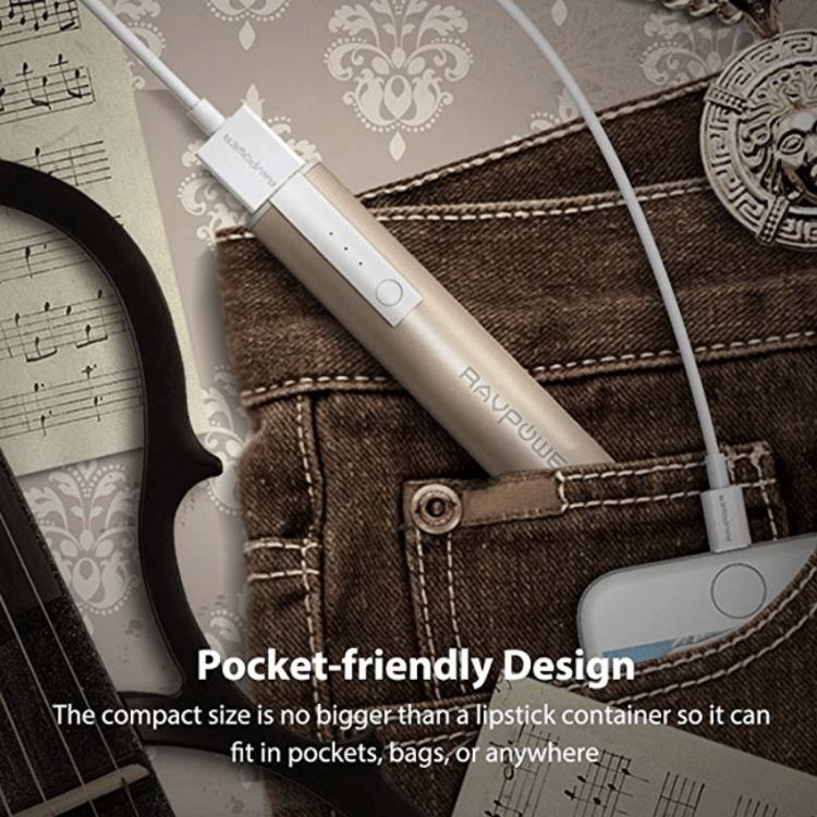 Compact External batter pack for smartphones and more. Fits in pockets, purses and bags.