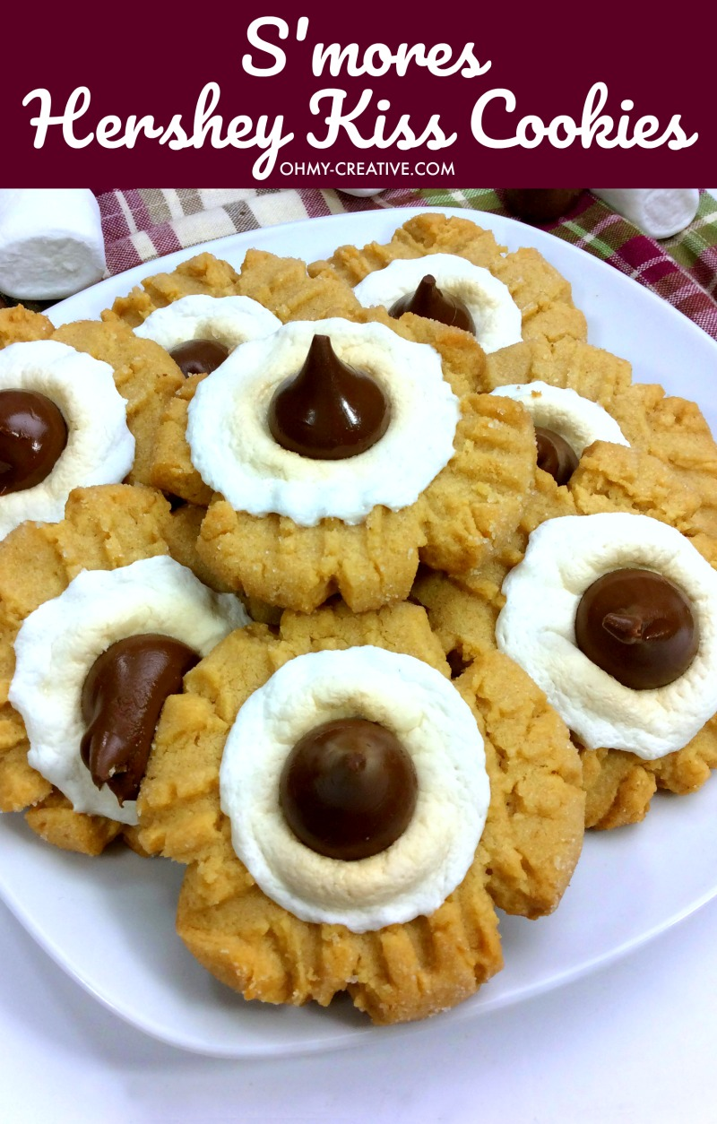 S'mores Hershey Kiss Cookies