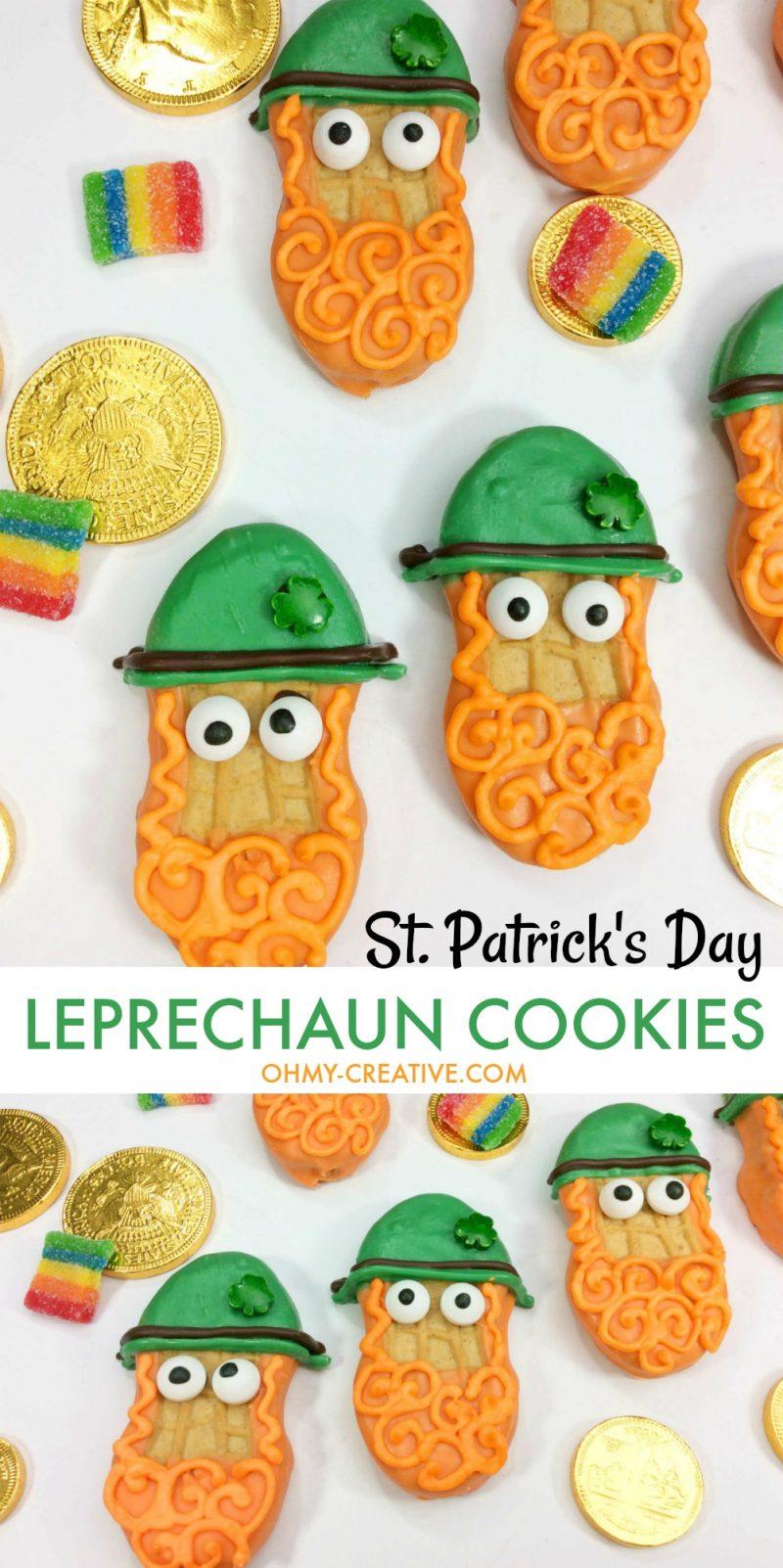 Leprechaun Treats | OHMY-CREATIVE.COM | Leprechaun Cookies | St. Patrick's Day Cookies | St. Patrick's Day Treats | Leprechaun Ideas | Leprechaun For Kids #leprechauncookies #stpatricksday #stpatricksdaydessert #stpatricksdaycookies