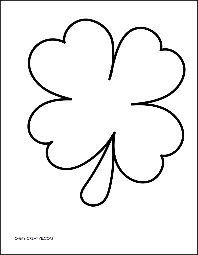 photograph regarding Printable Shamrock Images identified as Lower And Paste Shamrock Template or Coloring Web page - Oh My