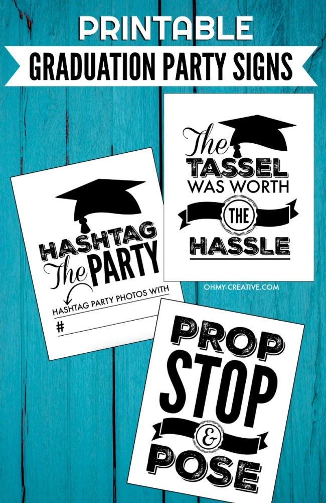 Graduation Party Signs for Instagram and photo booth sign