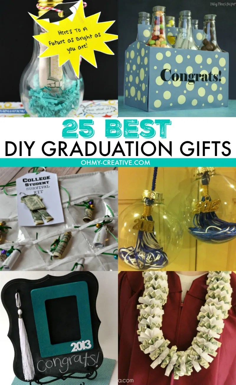 25 DIY Graduation Gifts | OHMY-CREATIVE.COM | DIY Gifts | Graduation | Graduation Gifts | DIY Graduation Gifts | DIY Ideas | Funny Graduation Gifts | Graduation Gifts for Her | Graduation Gifts for Him