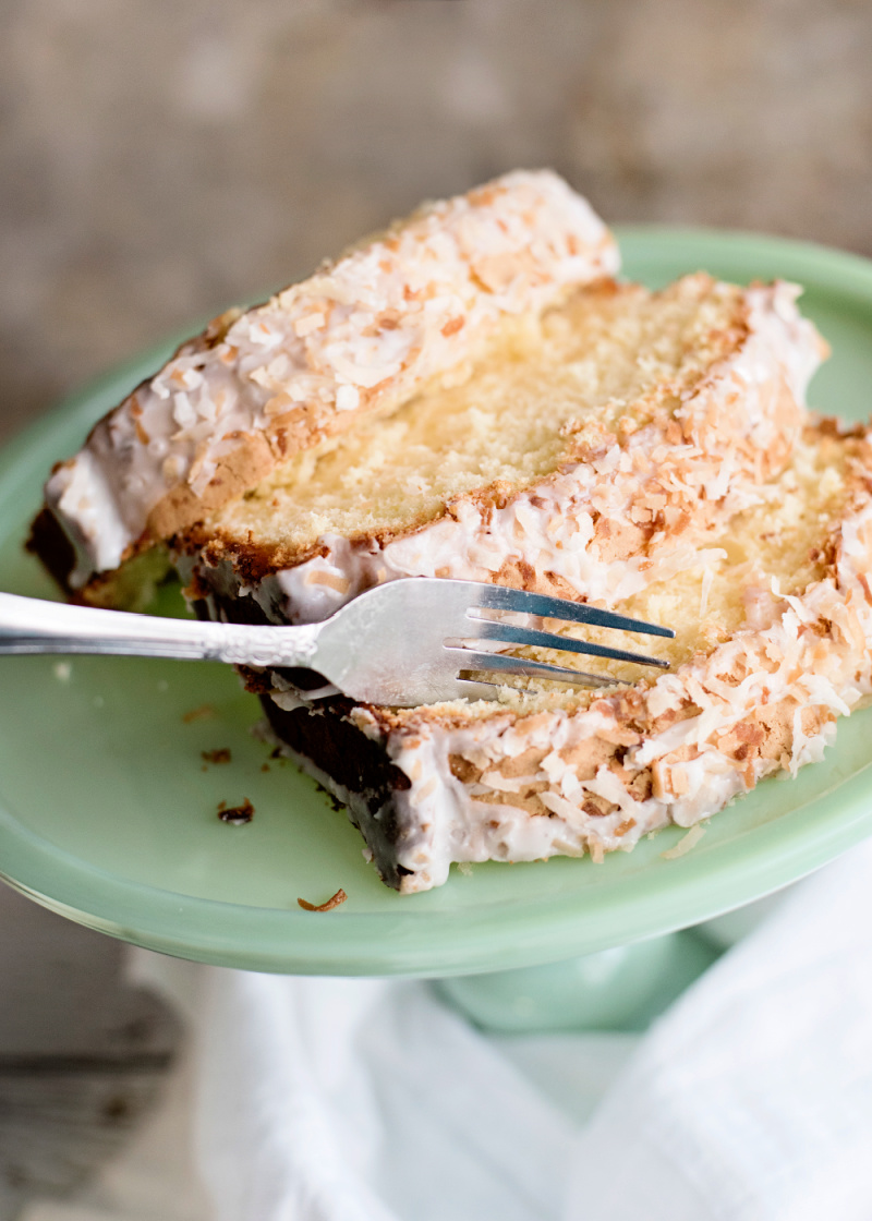 Put a fork into this coconut pound cake and taste the amazing flavors!