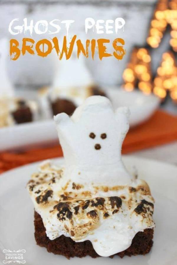 Ghost Peep Brownies