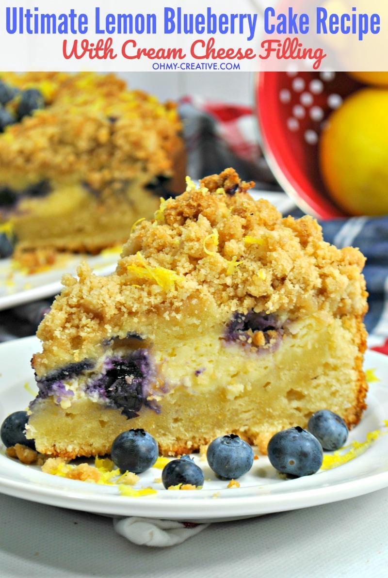 Pressure Cooker Lemon Blueberry Cake Recipe