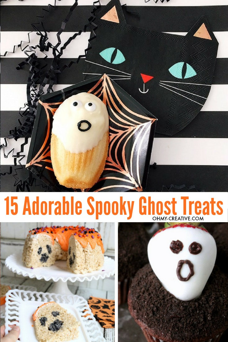 Rock Halloween with these 15+ Spooky Ghost Snacks and Ghost Treats! OHMY-CREATIVE.COM | Halloween Party Food Ideas | Halloween Food | Ghost Desserts | Halloween Desserts | Ghost Snacks Halloween | #ghostsnacks #halloweenghosts #halloweenpartyfood #halloweendessert #ghosttreats #ghosts #halloweenfood #halloween