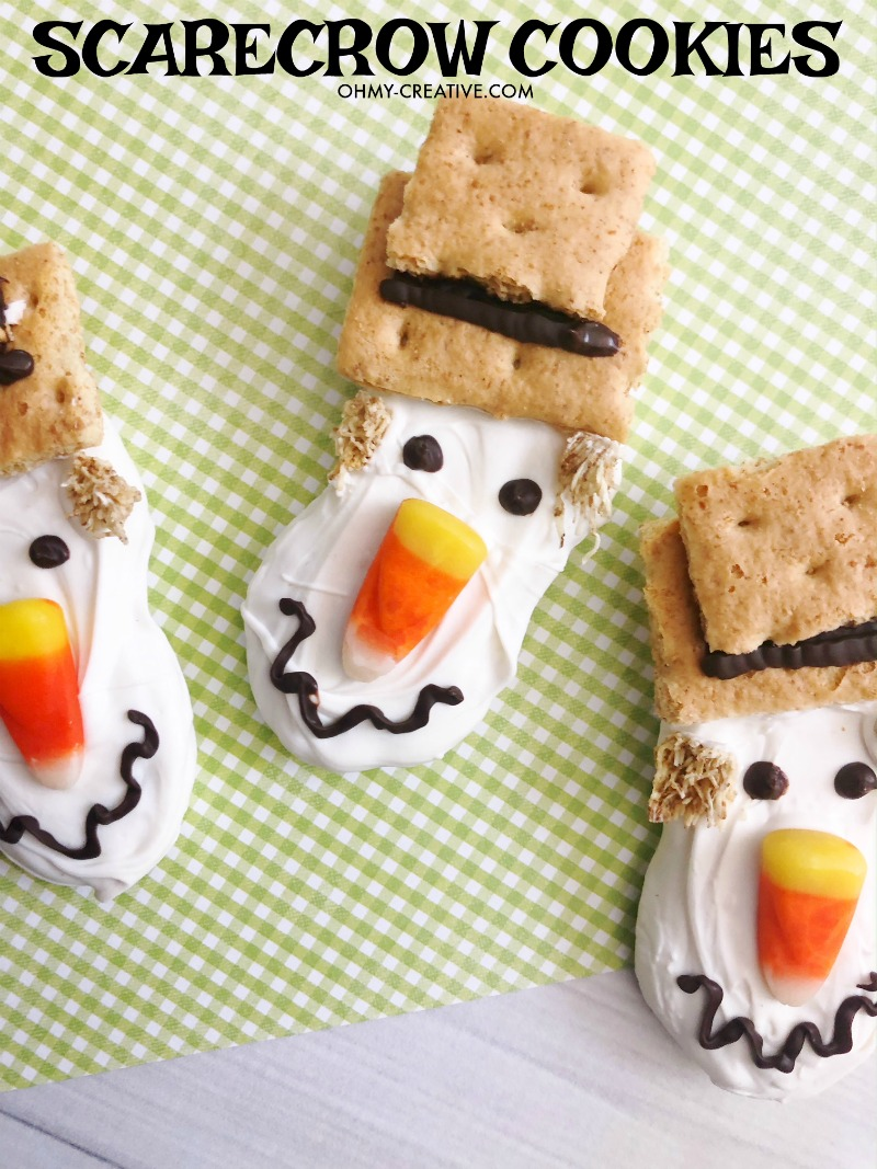 The Cutest Scarecrow Nutter Butter Fall Cookies