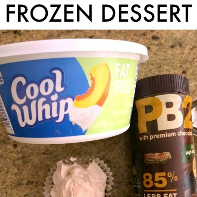Weight Watchers Chocolate PB2 Cool Whip Low Point Dessert