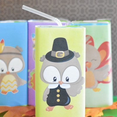 Kids Thanksgiving Printable Juice Box Covers The Kids Will Love