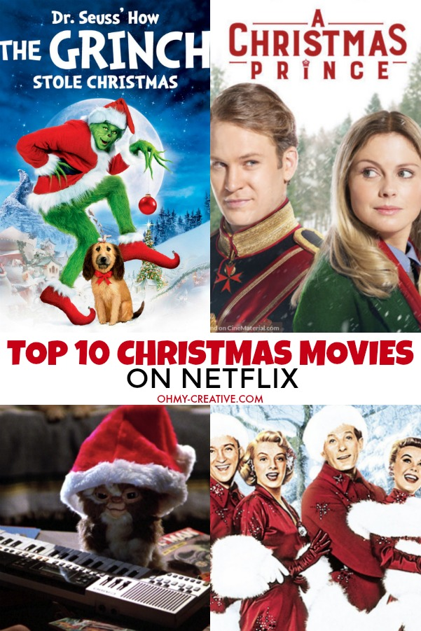 Memories will be made spending time with family watching these Top 10 Christmas Movies on Netflix! Great holiday movies for the whole family! OHMY-CREATIVE.COM #christmasmovies #netflixchristmasmovies #netflixmovies