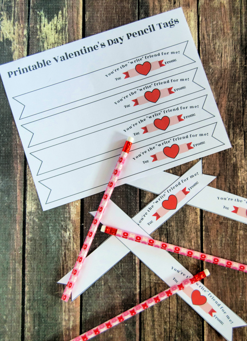 image regarding Pencil Valentine Printable named Totally free Pencil Valentine Printable Banner The Young children Will Get pleasure from
