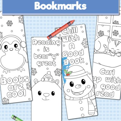 Free Printable Winter Bookmarks To Color For Kids