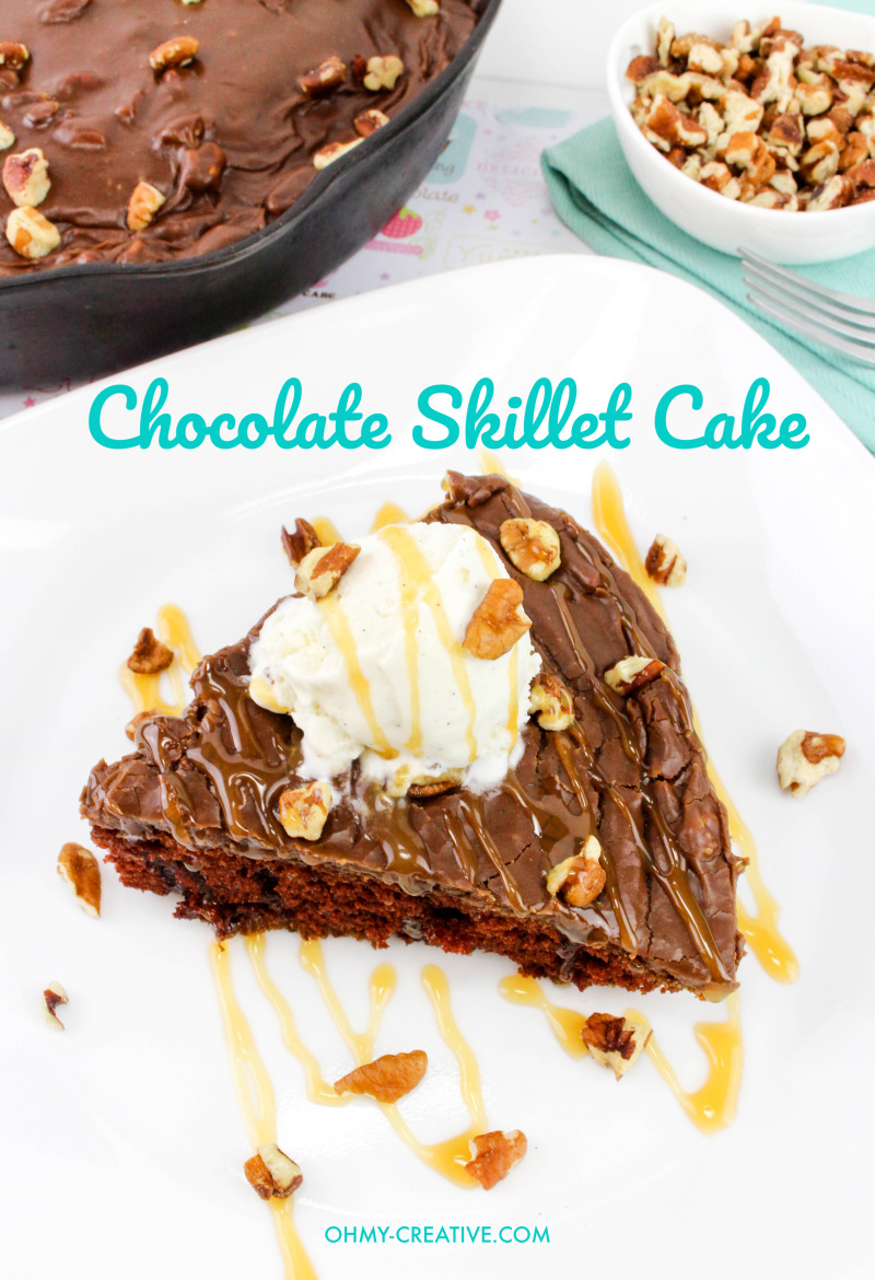 Warm Chocolate Skillet Cake With Pecans