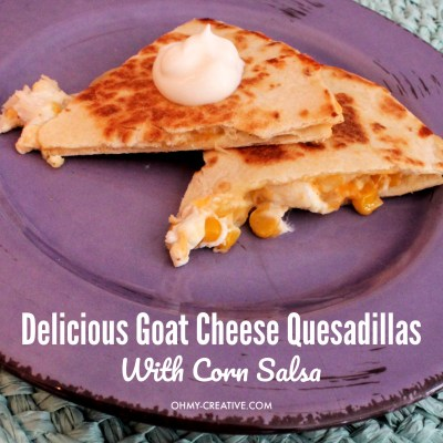 Yummy Chicken Goat Cheese Quesadilla With Corn Salsa