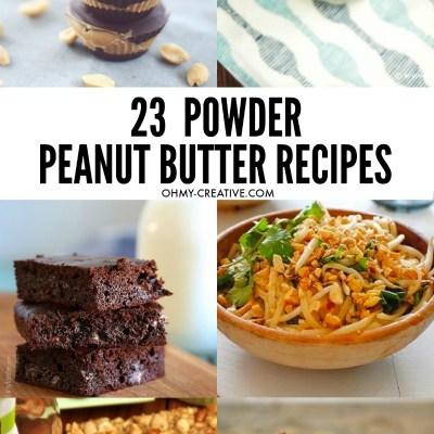 23 PB2 Powdered Peanut Butter Recipes