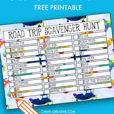 kids road trip scavenger hunt printable