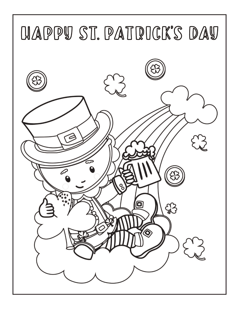 St Patricks Day Coloring Pages Free Printables | 1035x800