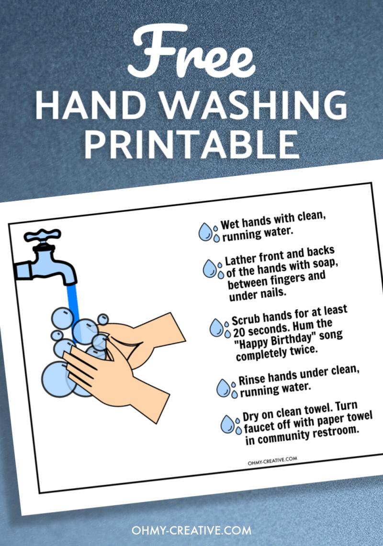 Free Printable Hand Washing Sign
