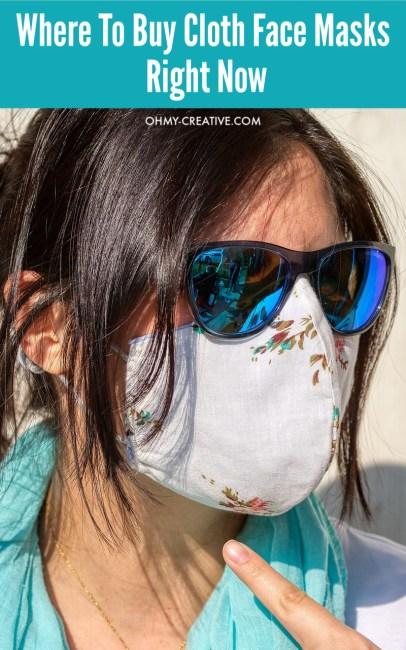 Women wearing cloth face mask