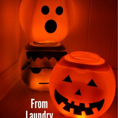 DIY Halloween Lanterns From Laundry Pod Containers