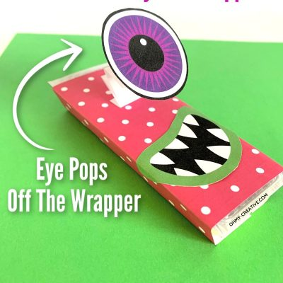 Eye-Popping Monster Halloween Candy Bar Wrappers