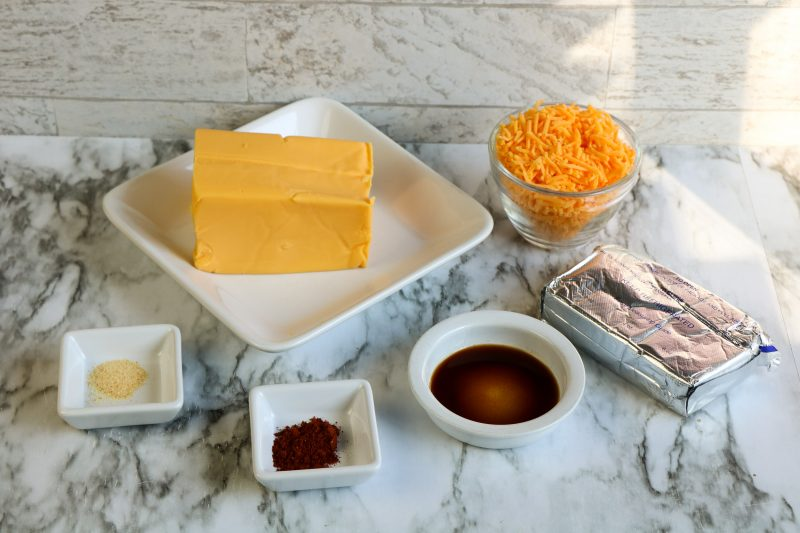 Fall appetizer cheese ball ingredients.