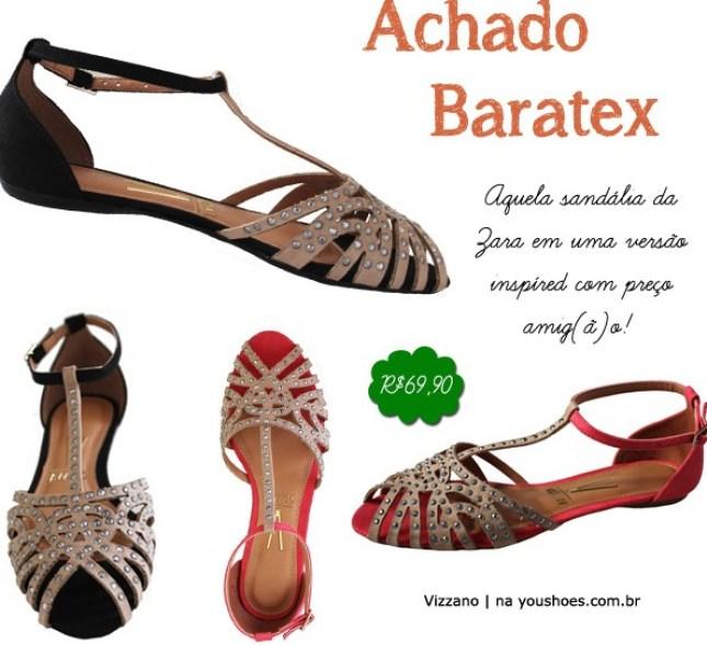 Sandália Rasteirinha Flat sapatilha Vizzano Zara
