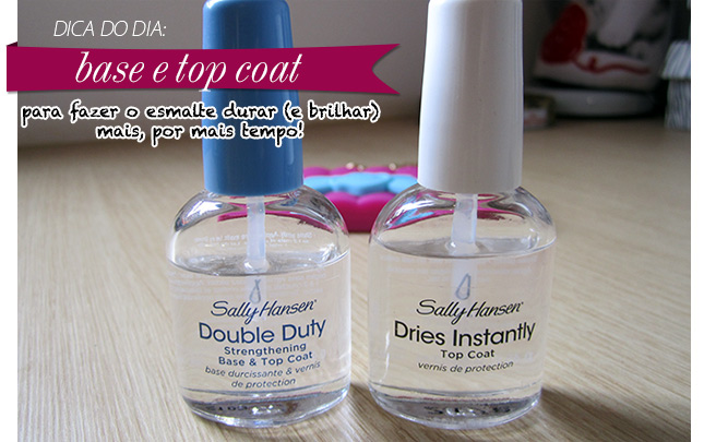 dica esmalte top coat base blog de moda mega shine sally hansen