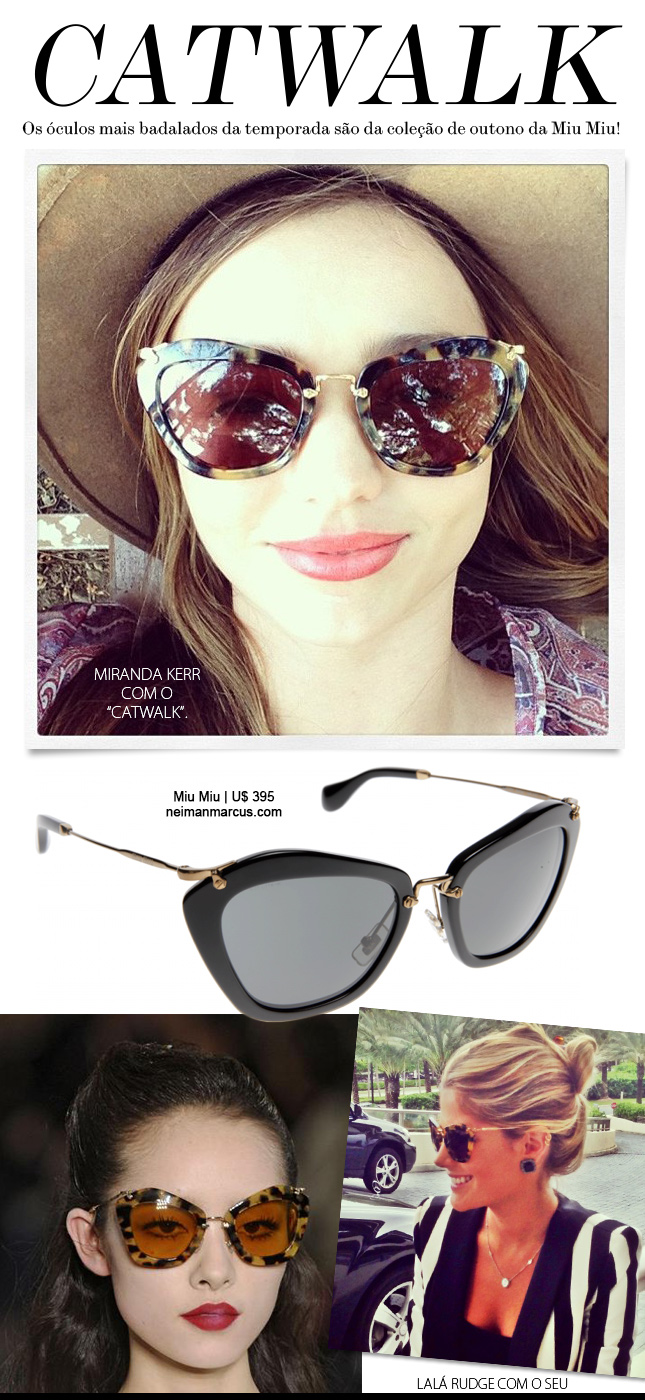 Catwalk Sunglasses - O Hit da Miu Miu - Oh My Closet! 462af70409