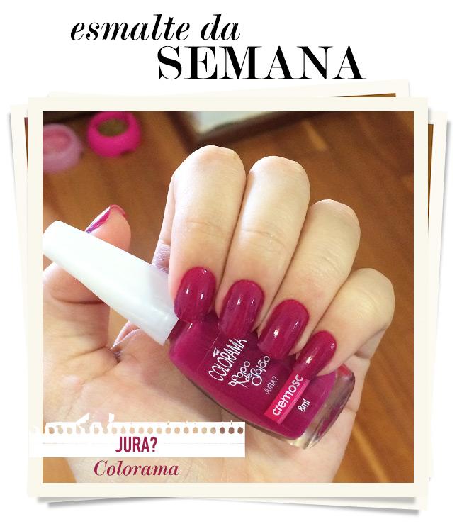 jura colorama esmalte da semana blog de moda oh my closet tendencia verao 2015 monica araujo esmalte rosa swatch